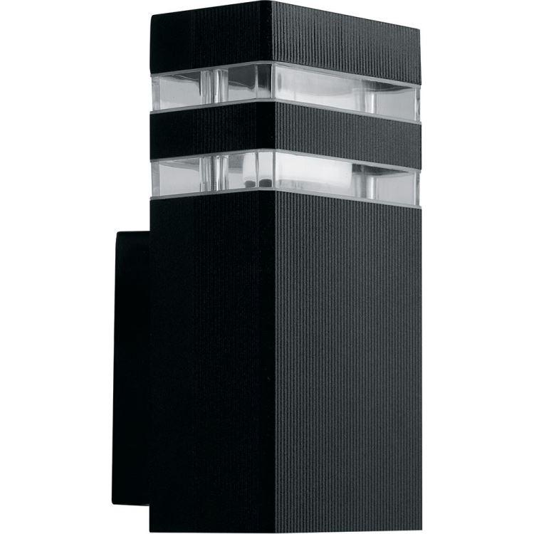 Фасадний вуличний світильник DH0806 Е27 чорний IP54 Код.59794