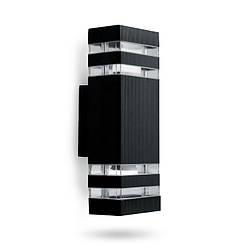 Фасадный уличный светильник DH0807 2хЕ27 черный IP54 Код.59793