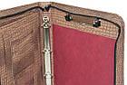 Папка-портфель з еко шкіри під крокодила Portfolio коричнева, фото 4