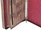 Папка-портфель з еко шкіри під крокодила Portfolio коричнева, фото 6