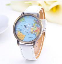 Наручний жіночий годинник з коттоновим ремінцем код 189 Уцінка