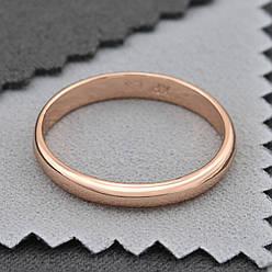 Кольцо обручальное Xuping 14534 ширина 2 мм позолота РО размер 16