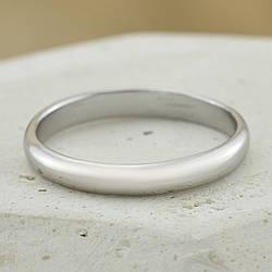 Кольцо обручальное Xuping 14046 ширина 3 мм позолота Белое золото размер 23