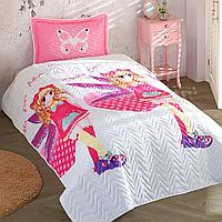 Детское покрывало на кровать для девочек Pinkly, Разноцвет, 180x240