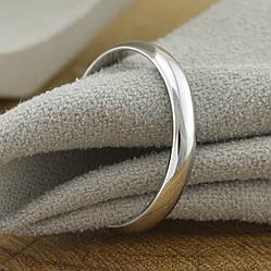 Кольцо обручальное Xuping 14046 ширина 3 мм позолота Белое золото размер 22