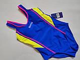 Купальник  слитный для подростков Z.FIVE 96127 Спорт синий (В НАЛИЧИИ ТОЛЬКО  32 34 36 38 40  размеры), фото 5