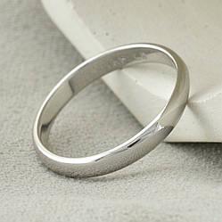Кольцо обручальное Xuping 14046 ширина 3 мм позолота Белое золото размер 16