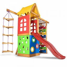 Дитячий спортивний дерев'яний майданчик Babyland-28, розмір 2.1х 0.75х 1.865 м