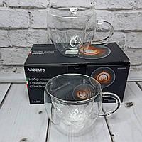 Чашка стеклянная с двойными стенками 300 Мл ARDESTO 2шт сердечки AR-2630GHL