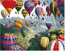 Картина по номерам Brushme  Разноцветные шары  GX6524 40*50см Воздушные шары Пейзаж Природа Вода горы