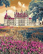Картина по номерам Brushme Сказочный дворец GX3287 Замок 40*50см Пейзаж Природа цветы лаванда