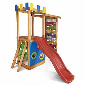 Дитячий спортивний дерев'яний майданчик Babyland-15, розмір 2.1х0.75х 2.3м