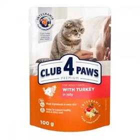 Клуб 4 лапи д/котів ПАУЧ 0,1 кг для ІНДИЧКА в желе