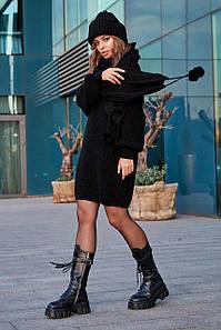 Женский вязаный костюм Тина черный