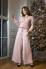 Женский вязаный костюм Нэнси пудра