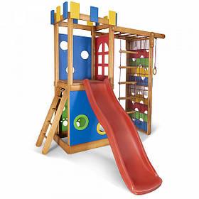 Дитячий спортивний дерев'яний майданчик Babyland-16, розмір 2.1х0.75х 2.3м