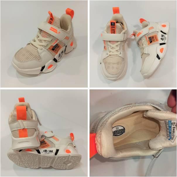 Дитячі кросівки бежева сітка, Zdlong фото