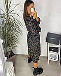 Жіноче плаття, шовковий софт, р-р 42-44; 46-48 (чорний), фото 2