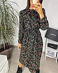 Жіноче плаття, шовковий софт, р-р 42-44; 46-48 (чорний), фото 3