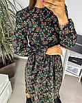 Жіноче плаття, шовковий софт, р-р 42-44; 46-48 (чорний), фото 4