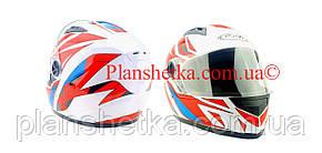Шлем для мотоцикла Hel-Met 111 белый с красным S/M