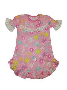 Дитяча рожева нічна сорочка для дівчинки кулір