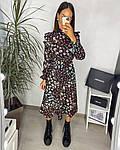Женское платье, шёлковый софт,  р-р 42-44; 46-48 (чёрный), фото 3
