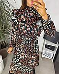 Женское платье, шёлковый софт,  р-р 42-44; 46-48 (чёрный), фото 4