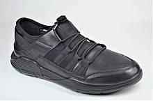 Мужские кожаные кроссовки черные Rondo 160/44/2/R