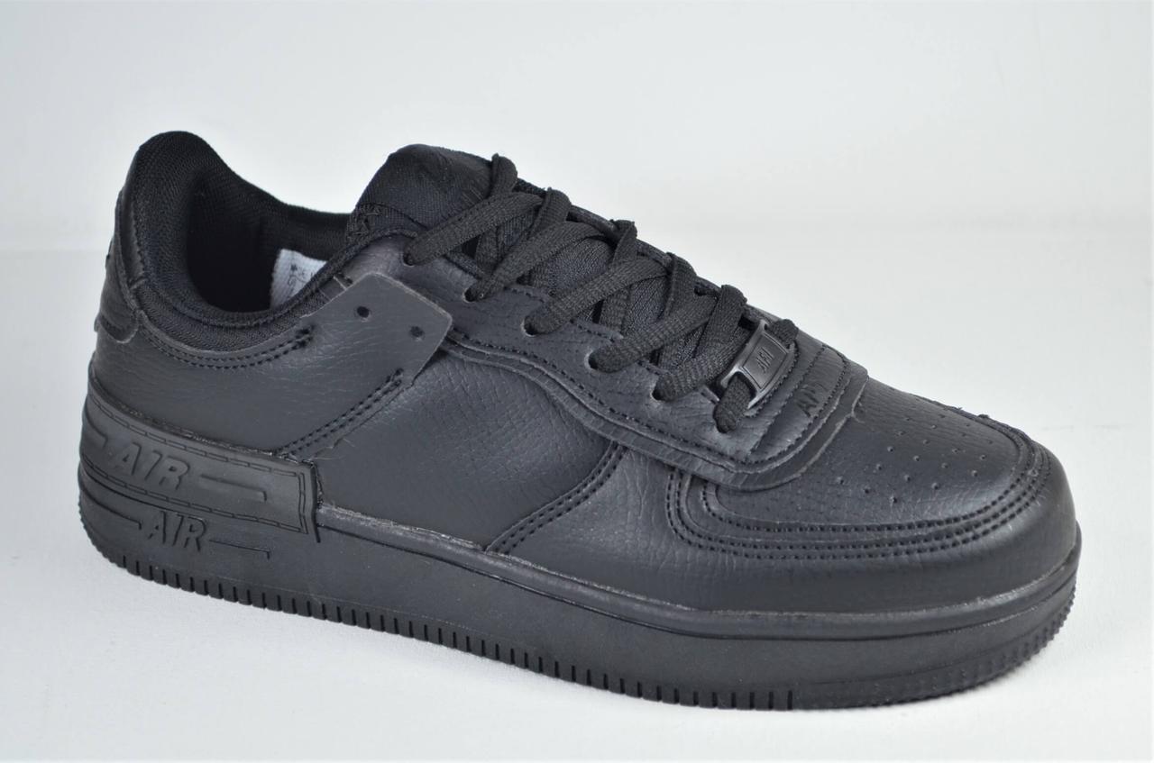 Підліткові і жіночі спортивні туфлі чорні кеди Ditof 9165 - 8