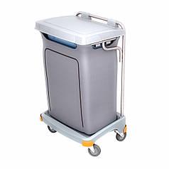 Пластиковая тележка для вывоза мусора 120л с крышкой