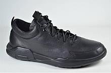 Мужские кожаные кроссовки черные Rondo 183/44