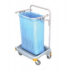 Тележка держатель для большого пакета для мусора 120л без крышки