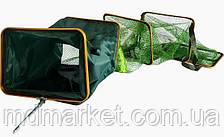 Садок рыболовный 3 метра квадратный 35*45 см (прорезиненный)