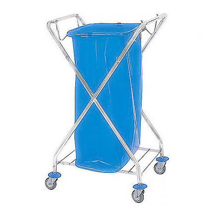 Візок держатель для сміттєвого пакету 120л металевий, фото 2