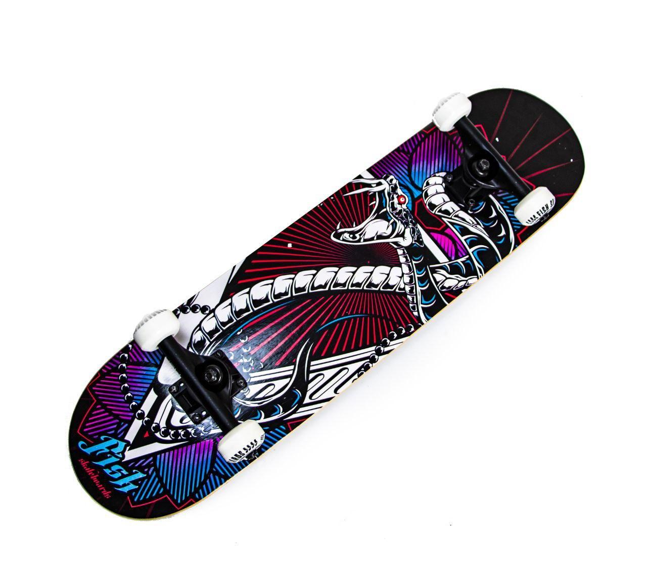 СкейтБорд деревянный от Fish Skateboard ЗМЕЙ