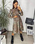 Женское платье, шёлковый софт,  р-р 42-44; 46-48 (хаки), фото 3