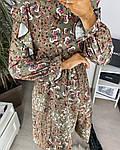 Женское платье, шёлковый софт,  р-р 42-44; 46-48 (хаки), фото 4