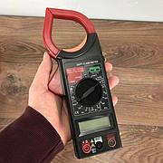 Цифровой мультиметр с термопарой DT 266FT тестер профессиональный для дома автомобиля с клещами токовые клещи