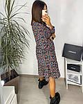 Женское платье, шёлковый софт,  р-р 42-44; 46-48 (чёрный+зелёный), фото 2