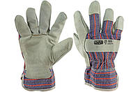 """Перчатки Сила - замшевые комбинированные, сшивная ладонь 10,5"""" 1 шт., фото 1"""
