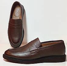 Пени лоферы туфли из натуральной кожи коричневые фабричная Турция
