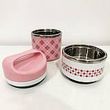 Комплект: ланч бокс UNIQUE UN-1521 0,9 л. Колір: рожевий + термокружка UNIQUE UN-1071 0.38 л. Колір: червоний, фото 10
