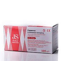 Спиртові серветки з нетканого матеріалу для ін'єкцій 30 х 65 мм, (100шт./уп.), JS