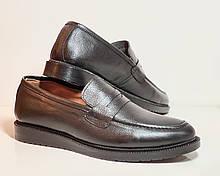 Пени лоферы туфли из натуральной кожи черные фабричная Турция