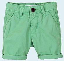 Детские шорты для мальчика зеленые 1,5 - 3 года, 86-98 см Minoti,  86-92 см