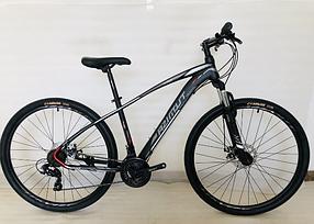 """Підлітковий гірський велосипед Azimut Nevada 24 розмір рами 15"""" чорно-білий"""