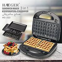 Вафельниця/Гриль/Сендвіч Haeger HG-213