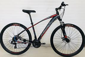 """Підлітковий гірський велосипед Azimut Nevada 24 розмір рами 15"""" чорно-червоний"""