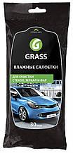 Серветка GRASS волога для скла, дзеркал, фар (30шт) IT-0313